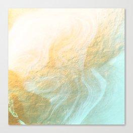 Marble melt - gold Canvas Print