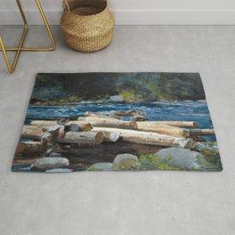 Winslow Homer - Hudson River, 1892 Rug