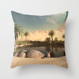 EGYPTIAN-LANDSCAPE Throw Pillow