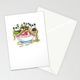 Ramen Kawaii Panda T-Shirt I Japanese Food Lover Stationery Cards
