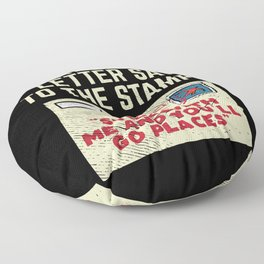 What Did The Letter Say To The Stamp Stick With And You'll Go Places Floor Pillow