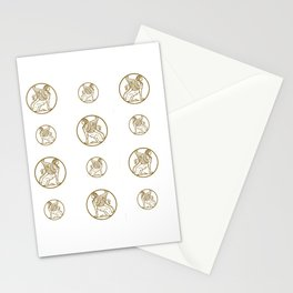 ForteFemme logo repeating grid Stationery Cards