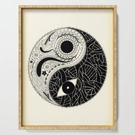 Yin & Yang - [collaborative art with Magdalla del Fresto] Serving Tray