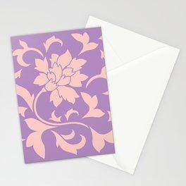 Oriental Flower - Strawberry Lilac Stationery Cards