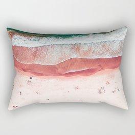 Pink Beach Print, Aerial Beach, Bondi Beach, Aerial Photography, Ocean Waves, Waves Print, Sea Print, Modern Home Decor Print Art Rectangular Pillow