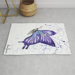 Lavender Butterfly Rug