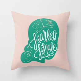 Fearless Female Throw Pillow