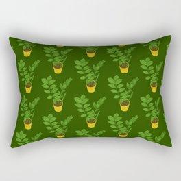 ZZ Plant Zamioculcas Tropical Houseplant Painting Rectangular Pillow