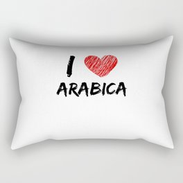 I Love Arabica Rectangular Pillow