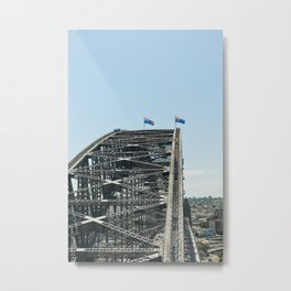 Sydney Harbour Bridge // on film Metal Print