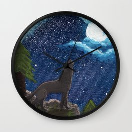 Wolf Moon Wall Clock