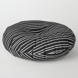 Black and White Pinstripes Floor Pillow