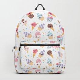 Cute Gelato [White Background] Backpack