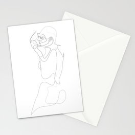 n20 - single line nude Stationery Cards