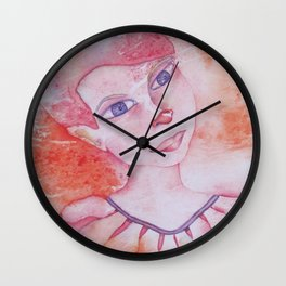 Le clown acrobate Wall Clock