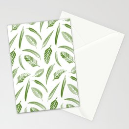 Leaf Pattern - Green Stationery Cards