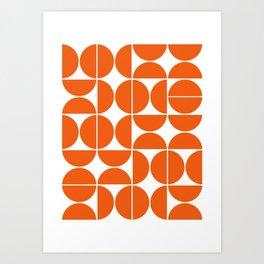 Mid Century Modern Geometric 04 Orange Kunstdrucke