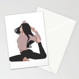 Yoga girl pink II Stationery Cards