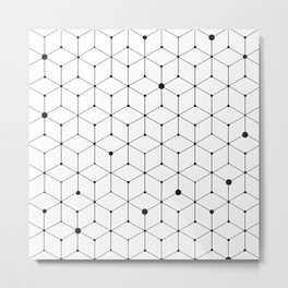 stroke of cube Metal Print
