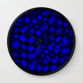 Drops in a blue diagonal along the surface of the water on a metal film. Wall Clock