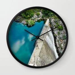 Overflowing dam Wall Clock