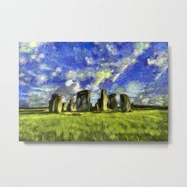 Stonehenge Art Metal Print