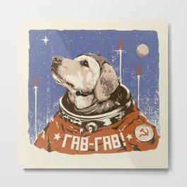 Soviet Space Dog Metal Print