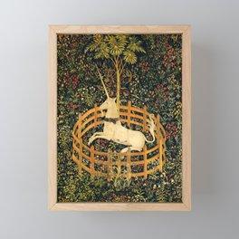 The Unicorn In Captivity Original Framed Mini Art Print