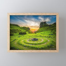 Fairy Glen Uig Isle of Skye, Scotland Framed Mini Art Print