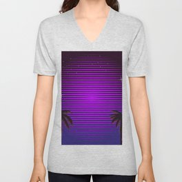 Sci-fi Miami Beach Unisex V-Neck