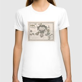 Vintage Canary Islands Map (1656) T-shirt