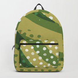 Abstract Modern Contemporary Monochromatic Dotted Background in Grass Green Color GC-118-8 Backpack