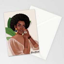 GET READY WITH ME BOSS LADY by Bennie Buatsie Stationery Cards