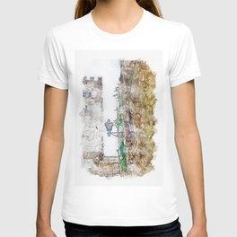 Aquarelle sketch art. Beautiful ancient stone buildings in Istria, Croatia T-shirt
