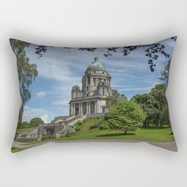 Photo England Ashton Memorial Williamson Park Stairs Parks Temples Trees Cities stairway staircase park temple Rectangular Pillow