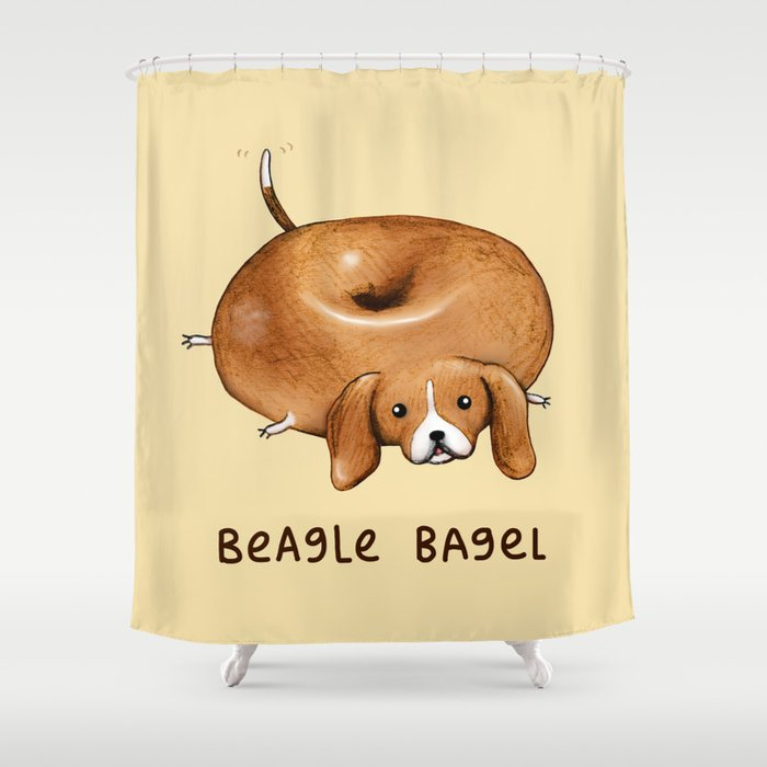 Beagle Bagel Shower Curtain