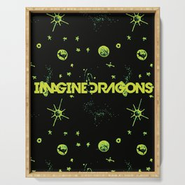 Imagine . Dragons lime green universe  Serving Tray