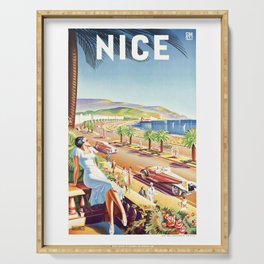 1935 Nice France Travel Poster Serving Tray