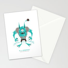 W is for Werewolf Stationery Cards
