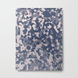 Winter Pixelated Camoflage Metal Print