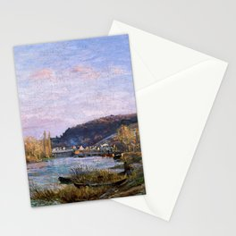 Camille Pissarro - The Seine At Bougival - Digital Remastered Edition Stationery Cards