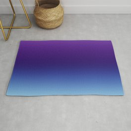 Purple and Blue Gradient Ombre Rug