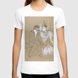 """Henri de Toulouse-Lautrec """"Lucien Guitry et Jeanne Grânier"""" T-shirt"""