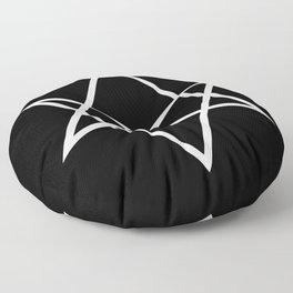 Unicursal Hexagram Floor Pillow