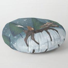 the elder moose Floor Pillow