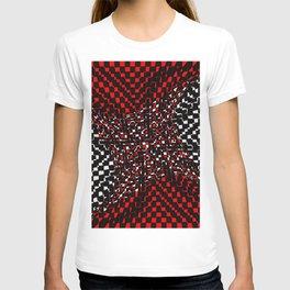 black white red 3 T-shirt