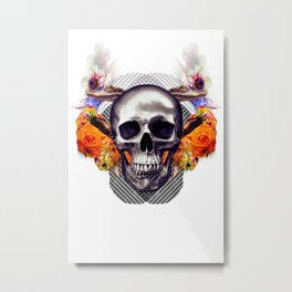 Laughing Skull Creates Dimwitted Robots In the Middle Ages Metal Print