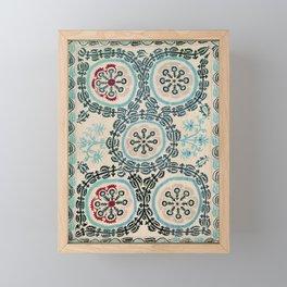 Ferghana Suzani  Northeast Uzbekistan Embroidery Print Framed Mini Art Print