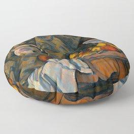Paul Cézanne - Still Life with Apples and Peaches - Nature morte avec Pommes et Pêches Floor Pillow