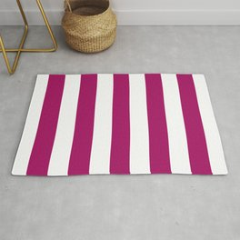 Jazzberry jam -  solid color - white stripes pattern Rug